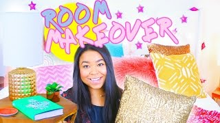DIY Total Bedroom Makeover! Room Makeover Surprise! Tanamontana100