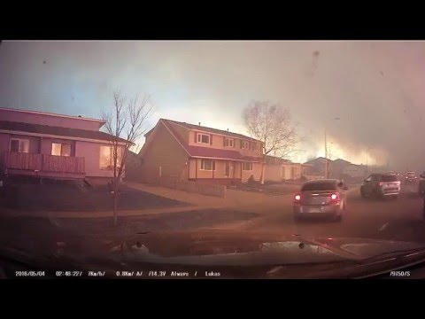 WATCH: Wildfire In Alberta Looks Like Hell On Earth.
