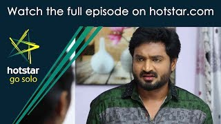 Maapillai! Click here http://www.hotstar.com/tv/maapillai/11856/will-senthil-accept-the-apology/1000182940 to watch the full episode.Will Senthil Accept The Apology? Jaya apologises to Senthil, but he remains upset with her. Later, Anbu counsels Senthil not to blame Jaya for his grief and makes him understand that Parvathi and Divya are targeting him.