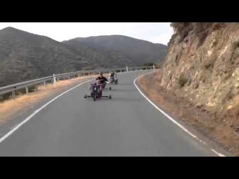 Drift trikes in Cyprus (видео)