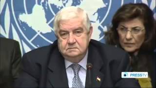 Walid a  Muallem Press Conference in Geneva 31  01  2014