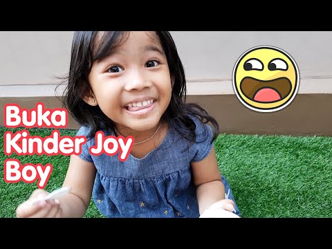 Kak Aruna Buka Kinder Joy Boy Isinya Truk - kinder joy surprise eggs