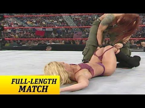 Lita vs Trish Stratus Bra & Panties Full Match WWE RAW 2000
