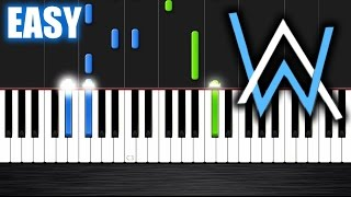 Alan Walker - Faded - EASY Piano Tutorial by PlutaX