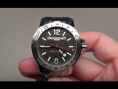 Raymond Weil Nabucco GMT Men's Watch Review Model: 3800-ST-05207