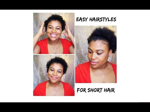 Curly hairstyles - EASY HAIRSTYLES for SHORT CURLY HAIR