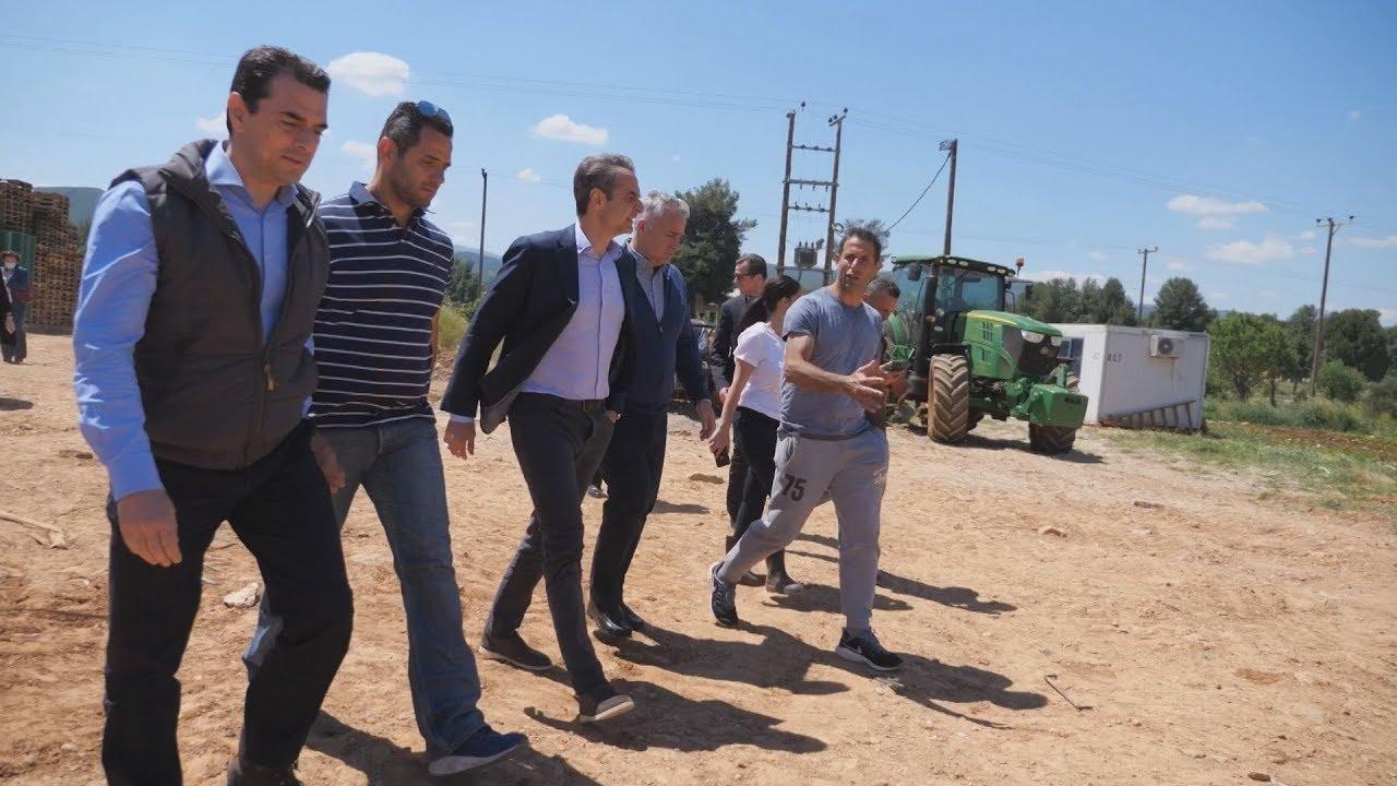 Eπίσκεψη του Πρωθυπουργού σε αγρόκτημα στον Αυλώνα Αττικής