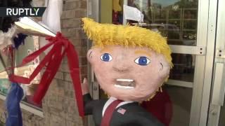 В США стали популярны пиньяты в виде Трампа