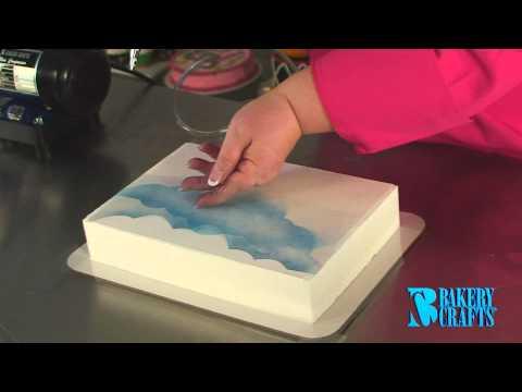 Аэрограф на торте как сделать