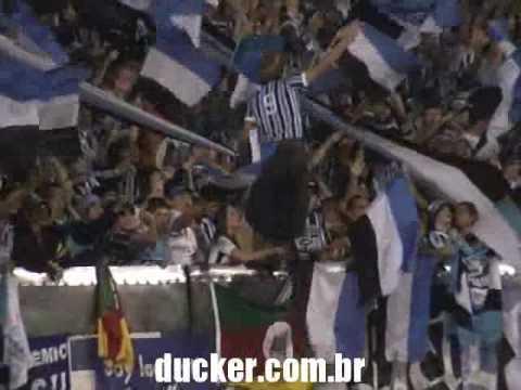 Grêmio x Boca - Final Libertadores 2007 - Hino Nacional - Geral do Grêmio - Grêmio - Brasil - América del Sur