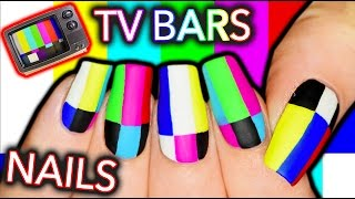 WHAT'S WRONG WITH YOUR TV?! Television Test Screen Bars Nail Art