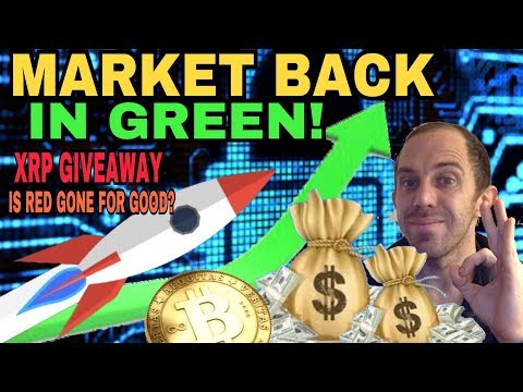 CRYPTOCURRENCY MARKET IN THE GREEN - INVESTORS BUYING ON DIPS? - TOP ALT COINS  RISE!