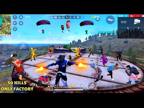 FF 100 Kills Challenge Only Factory Roof Part 1 Best Factory Roof Gameplay MUST WATCH | SAROJ GAMER