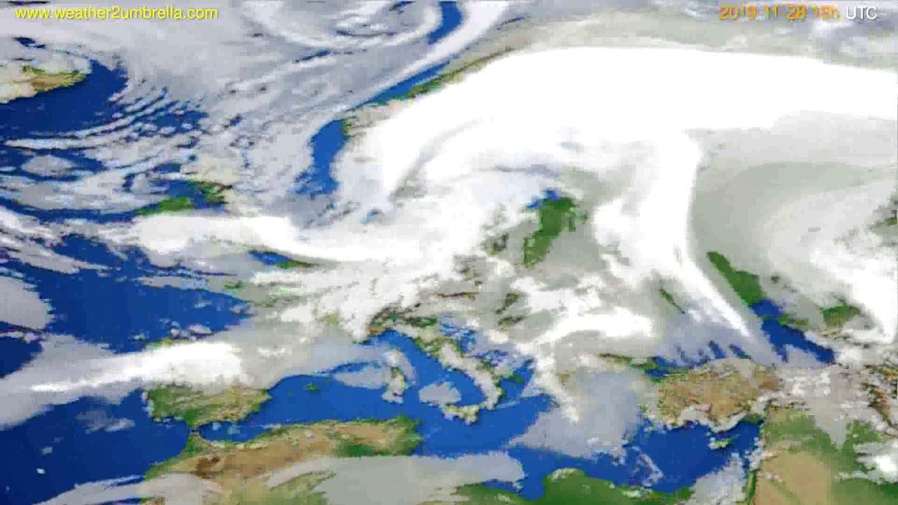 Cloud forecast Europe // modelrun: 12h UTC 2019-11-26