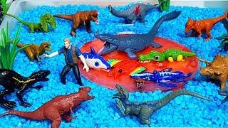 쥬라기월드 공룡 멀티팩 15 공룡 피규어 장난감 화산폭발 입욕제 바쓰볼 모래놀이 인도랩터 인도미누스 렉스 티라노사우루스 트리케라톱스