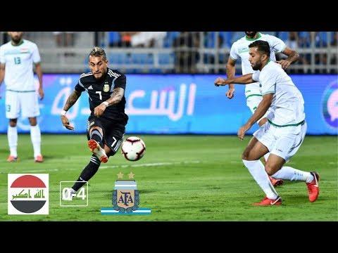 IRAQ vs ARGENTINA (0-4) - All Goals and Highlights (11/10/2018) HD