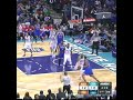 Lance Thomas of the New York Knicks travels, double dribbles and steps out of bounds but no call from the refs.
