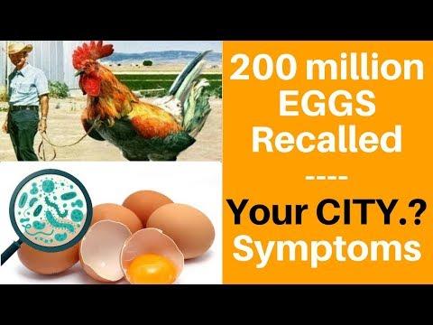✅ Egg Recall: Symptoms of Salmonella + List of 2018 brands Romaine Lettuce,Coburn Farms,cdc,lettuce