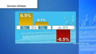 Inflación negativa y paro bajo mínimos en Alemania