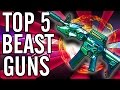 """Top 5"" ""Beast Weapons""/""Favorite Weapons"" in ""Call of Duty Zombies"" ~ ""Black Ops 2 Zombies"""