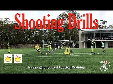 Basic & Advanced Shooting Drills! With Keeper! Joner 1on1