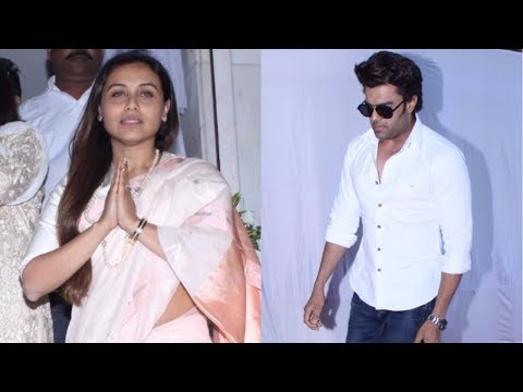 Manish Paul At Prayer Meeting Of Ram Mukherjee | Rani Mukerji's DAD |