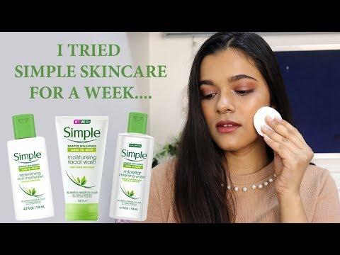 I TRIED SIMPLE SKINCARE FOR A WEEK....| REVIEW + DEMO | RAINA JAIN