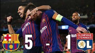 Barcelona vs Lyon [5-1], Champions League, Round of 16, 2nd Leg - MATCH ANALYSIS