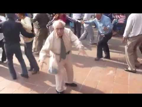 Here is the actual video of the old guy dancing. A lot better than a silent gif.
