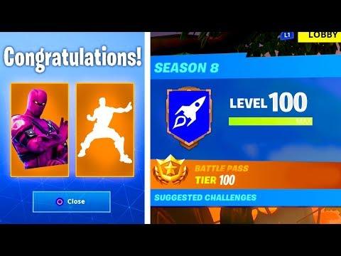Download The New Level 100 Rewards In Season 8 Secret Rewards