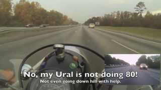 8. Ural Sidecar Commute North of Macon to Atlanta  - 8X speed
