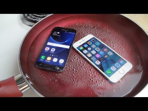 三星Galaxy S7 跟蘋果iPhone 6S 水煮,究竟哪壹台機子還可以用呢