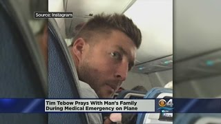 Tim Tebow Prays With Passengers After Man Suffers Medical Emergency On Flight