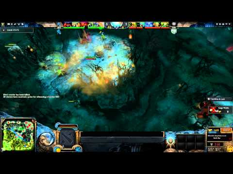 TI4 Grand Finals - Courier got sniped by neutrals creeps
