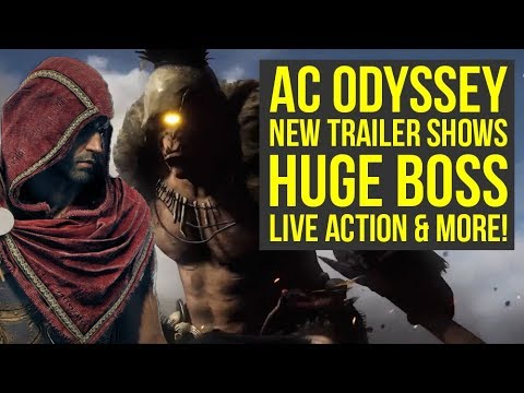 Assassin's Creed Odyssey Trailer SHOWS HUGE Trial of the Gods Style Boss & More (AC Odyssey Trailer)