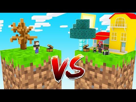 ZENGİN TEK BLOK VS FAKİR TEK BLOK! 😱 - Minecraft
