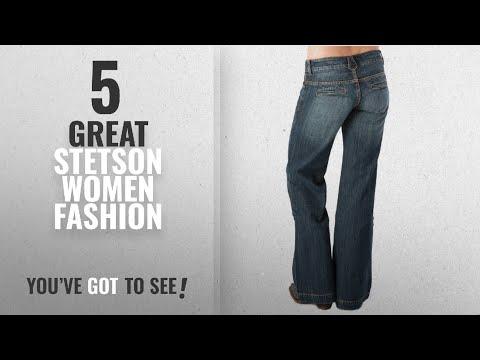 Stetson Women Fashion [2018 Best Sellers]: Stetson Women's 214 Fit City Dark Indigo Trouser Jeans