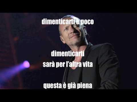 , title : 'Biagio Antonacci - Dimenticarti è poco con testi'