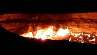 Some video footage from Ashgabat taken November 2009. Burning gas crater near Darvaza, Turkmenistan in the Karakum desert.