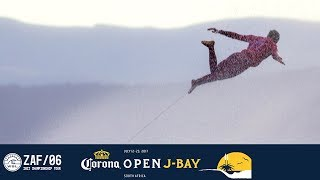 Another dramatic day unfolded in front of a packed house at Jeffreys Bay for the culmination of the Corona Open J-Bay.
