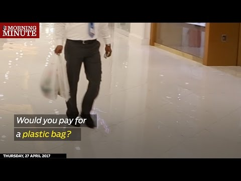 According to an environment ministry official, people should now pay a fee for every plastic bag they use.