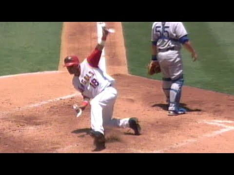 Video: Orlando Cabrera steals home for Angels vs. Dodgers