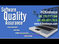 H2K Infosys is the leading provider of QA Online Training in USA.