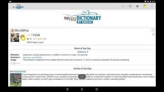 Dictionary YouTube video