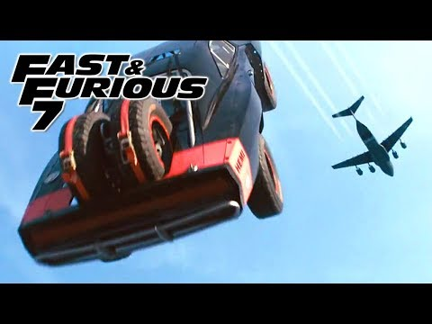 Plane Drop Scene 1/3 - FAST and FURIOUS 7 (Charger, Impreza, Wrangler, Challenger, Camaro) 1080p