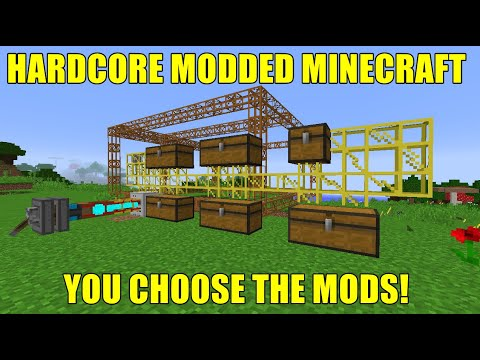 Can We Get A Buildcraft Quarry Running Day 1 | Hardcore Modded Minecraft | S1E1