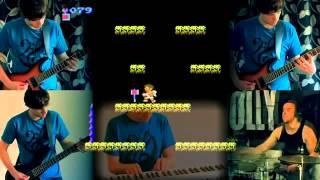 Los temas de los videojuegos tocados en la guitarra, batería, teclado...