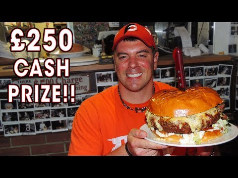7lb Belly Buster Burger Challenge at Man vs Food London!!