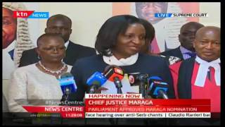 NewsCenter: CJ Maraga officially given the state of the judiciary and administration of justice repo