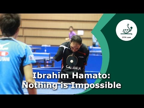 Nothing is Impossible - ping pong player with no hands